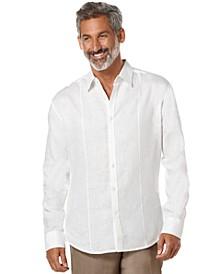 Tucked Long-Sleeve 100% Linen Shirt
