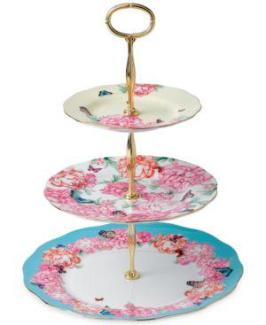 Royal Albert Miranda kerr 3 tier cake stand, Tan 1711910