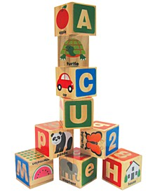 Kids' ABC/123 Wooden Blocks