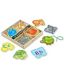 Kids' Alphabet Lacing Cards