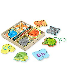 Melissa and Doug Kids' Alphabet Lacing Cards