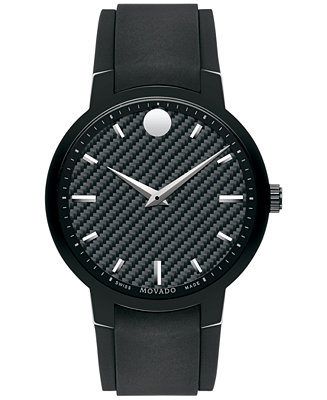 Movado Men's Swiss Gravity Black Textured Rubber