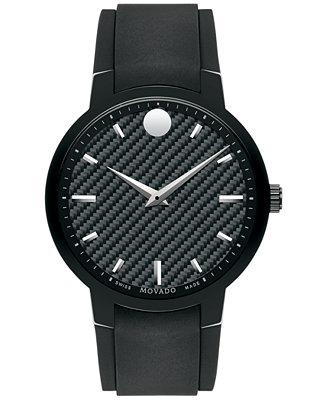 Movado Men's Swiss Gravity Black Textured Rubber