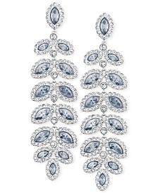 Swarovski Rhodium-Plated Crystal Drop Earrings