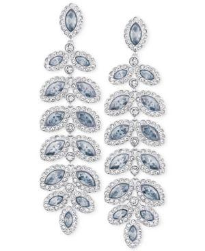 SWAROVSKI Rhodium-Plated Crystal Drop Earrings in Blue