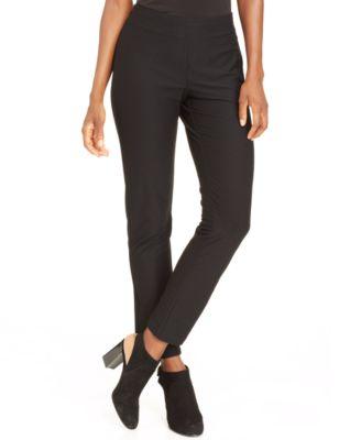 Washable Crepe Slim-Leg Ankle Pants, Regular & Petite