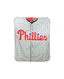 Northwest Company Philadelphia Phillies Plush Jersey Throw Blanket