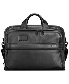 Tumi Alpha 2 Leather Organizer Briefcase