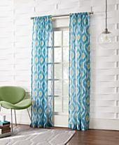 Lichtenberg Shiro Ikat Crushed Sheer Curtain Collection