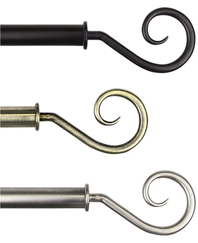 Rod Desyne Curl Single Rod Window Hardware Collection