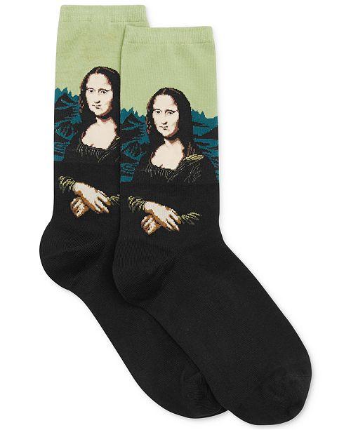 Hot Sox Women's Mona Lisa Artist Series Fashion Crew Sock