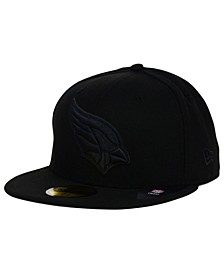 Arizona Cardinals NFL Black on Black 59FIFTY Fitted Cap