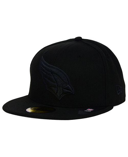 cbd41db9138099 ... New Era Arizona Cardinals NFL Black on Black 59FIFTY Fitted Cap ...