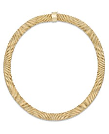 Mesh Collar Necklace in 14k Vermeil over Sterling Silver
