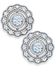 White Sapphire Stud Earrings in 14k White Gold (7/8 ct. t.w.)