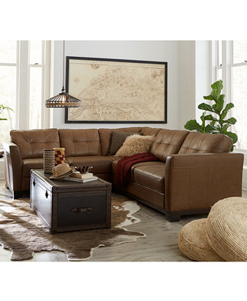 Martino Leather Sectional Living Room Furniture Collection ...
