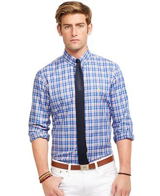 Polo Ralph Lauren Men's Long Sleeve Plaid Oxford Shirt - Casual ...