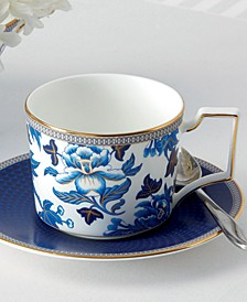 Hibiscus Teacup & Saucer Set