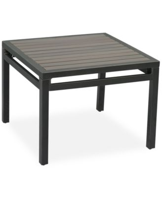 """CLOSEOUT! Aluminum 24"""" Outdoor End Table, Created for Macy's"""