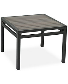 "CLOSEOUT! Aluminum 24"" Outdoor End Table, Created for Macy's"