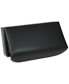 Royce Suede Lined Travel Cufflink Storage Box in Leather