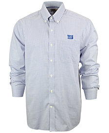 Cutter & Buck Men's New York Giants Tattersall Dress Shirt