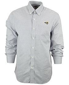 Cutter & Buck Men's Los Angeles Rams Tattersall Dress Shirt