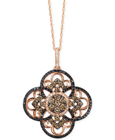 Le vian diamond clover pendant necklace in 14k rose gold 78 ct le vian diamond clover pendant necklace in 14k rose gold 78 ct aloadofball Image collections