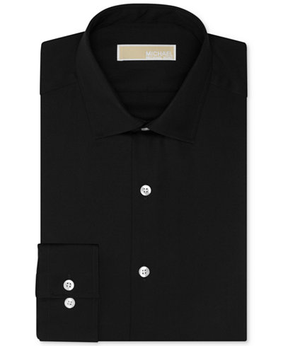 MICHAEL Michael Kors Men's Slim-Fit Non-Iron Twill Solid Dress Shirt