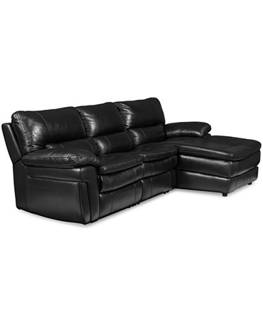 Xander leather 3 piece chaise sectional sofa with 1 power for 3 piece leather sectional sofa with chaise