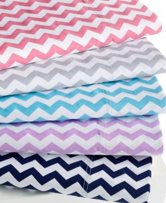 Chevron California King 4-pc Sheet Set, 300 Thread Count 100% Cotton