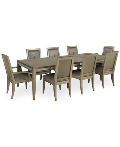 Ailey 9 Piece Dining Room Furniture Set Table 6 Side Chairs 2