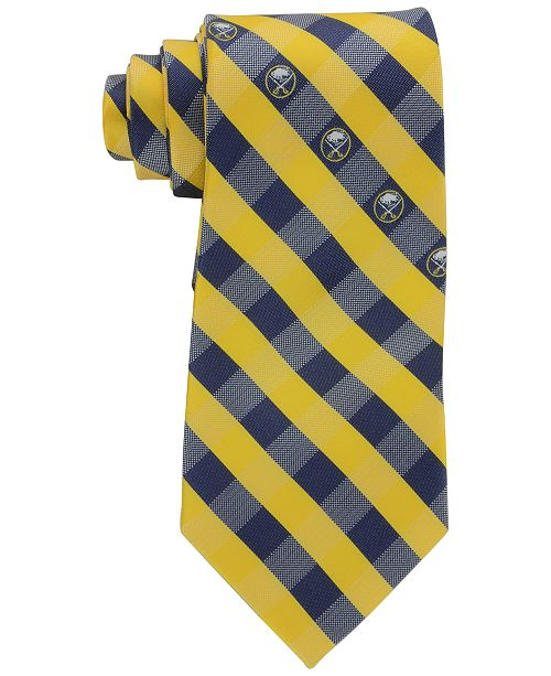 Eagles Wings Buffalo Sabres Checked Tie