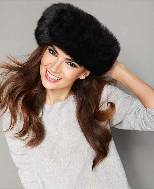 The Fur Vault Fox Fur Headband - The Fur Vault - Women - Macy s ec84c2f0d21