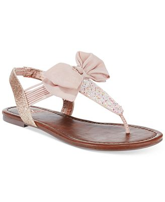 Material Girl Swan Flat Thong Sandals, Only at Macy's
