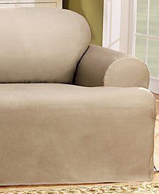 suede perfect fit smooth beyond slipcover in buy bed from t relaxed chocolate cushion slipcovers chair bath