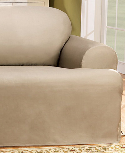 Sure Fit Duck T-Cushion Loveseat Slipcover