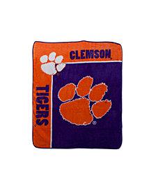 Northwest Company Clemson Tigers Plush Team Spirit Throw Blanket