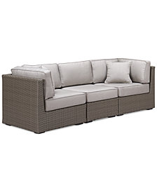 CLOSEOUT! South Harbor Outdoor 3-Pc. Modular Seating Set (2 Corner Units and 1 Armless Unit), Created for Macy's