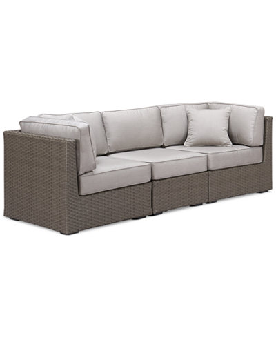 South Harbor Outdoor 3-Pc. Modular Seating Set (2 Corner Units and 1 Armless Unit), Created for Macy's