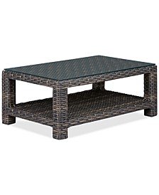 "Viewport Wicker 44"" x 28"" Outdoor Coffee Table, Created for Macy's"