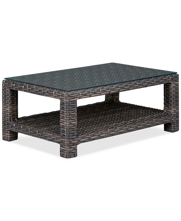 "Furniture Viewport Wicker 44"" x 28"" Outdoor Coffee Table, Created for Macy's"