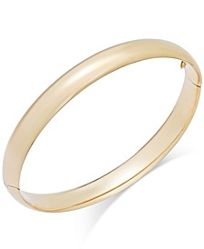 High Polish Bangle Bracelet in 14k Gold