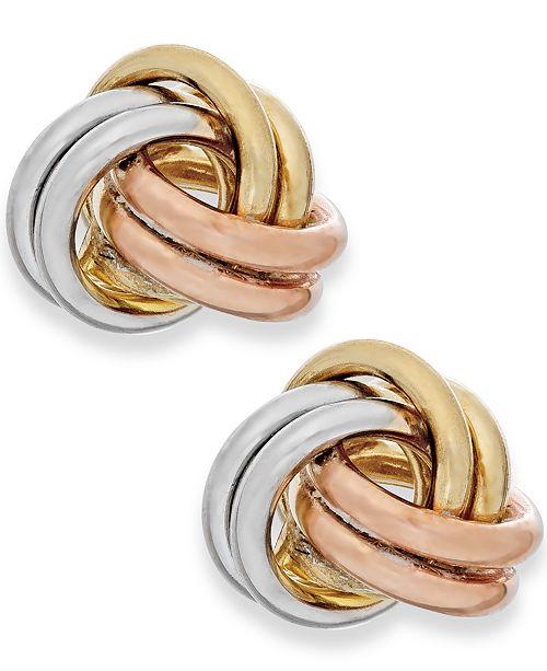 f951e753fcdae0 Love Knot Stud Earrings - Best All Earring Photos Kamilmaciol.Com