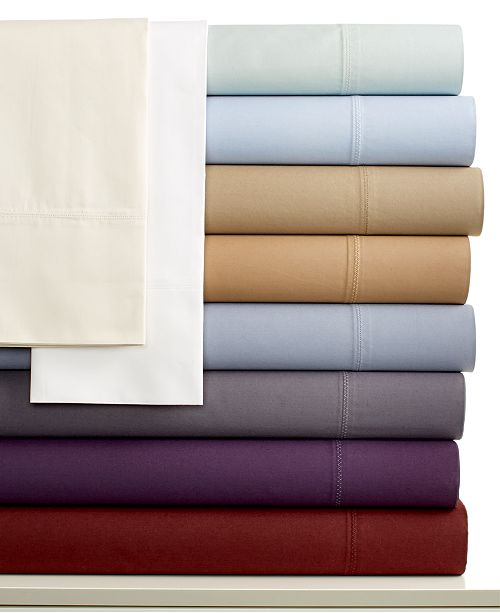 Calvin Klein Florence Stitch 500 Thread Count Pima Cotton King Flat Sheet