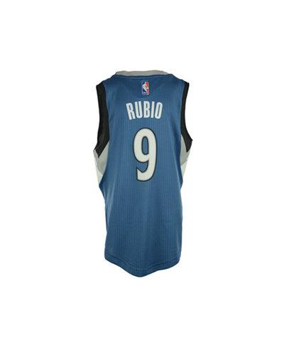 adidas Kids' Ricky Rubio Minnesota Timberwolves Swingman Jersey, Big Boys (8-20)