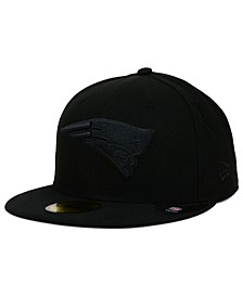 New England Patriots Black on Black 59FIFTY Fitted Cap