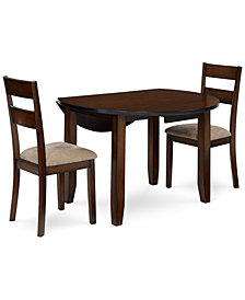 Branton Round 3-Piece Set, Table & 2 Chairs