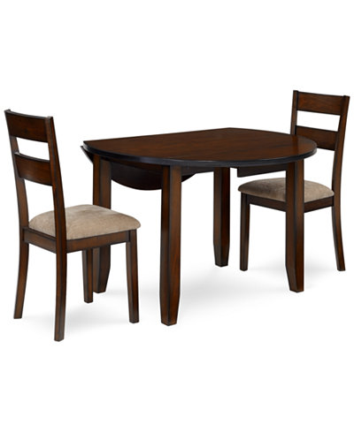 Branton Round 3 Piece Set Table 2 Chairs Furniture