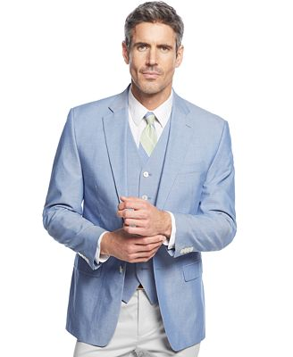Lauren Ralph Lauren Blue Chambray Sport Coat & Vest - Suits & Suit ...